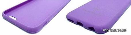 Soft Touch TPU силиконовая накладка для Samsung S6 Edge Violet, фото 2
