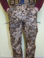 Тактические штаны Пиксель ВСУ (ММ-14) Софтшелл Soft Shell Брюки Пиксель ЗСУ