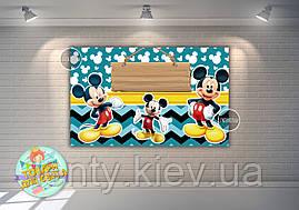"""Плакат 120х75 см в стилі """"Міккі Маус"""" синій, на дитячий День народження -"""