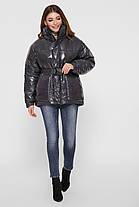 Модна зимова куртка з плащової тканини Лак Розміри S M, фото 3