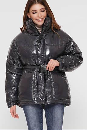 Модна зимова куртка з плащової тканини Лак Розміри S M, фото 2