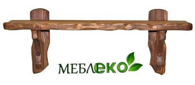 """Полочка из натурального дерева под старину """"Крестьянка № 2""""."""