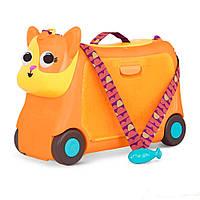 Детский чемодан-каталка на колесиках Battat для путешествий Котик-турист LB1759Z