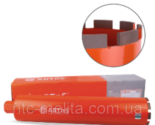 Сверло алмазное сегментное DDS-B 77x450-7x1 1/4 UNC DBD 77 RM7H