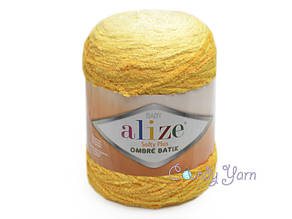 Alize Softy Plus Ombre Batik №7285, желтый