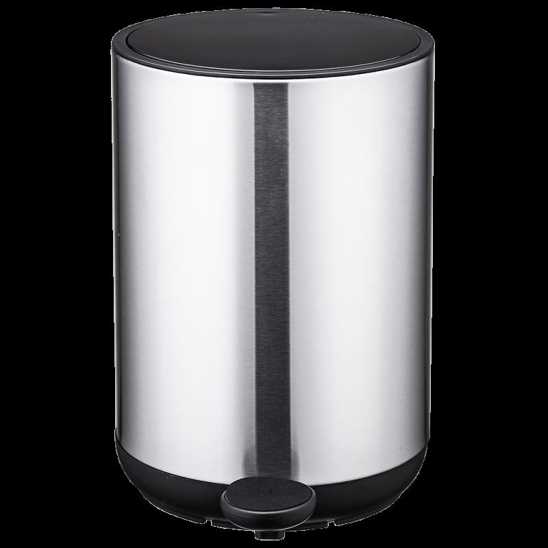 Відро для сміття Nordic Style JAH 10 л (колір срібло, круглий)