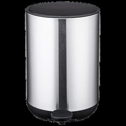 Відро для сміття Nordic Style JAH 10 л (колір срібло, круглий), фото 2