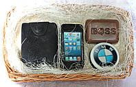 """Мыло ручной работы """"Набор: портмоне, айфон, bmw, BOSS"""""""