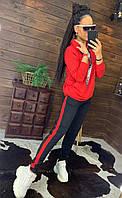Жіночий спортивний костюм двійка штани і кофта з капюшоном, фото 1