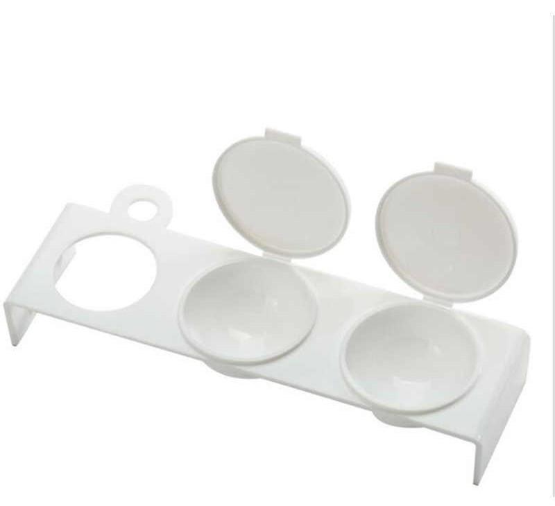 Палитра-контейнер для смешивания красок, тройная с крышкой,белая