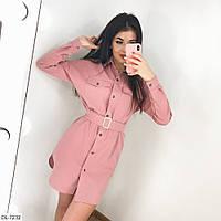 """Сукня-сорочка жіноча на гудзиках мод. 1058 (42-44, 44-46) """"LIULYA"""" недорого від прямого постачальника, фото 1"""