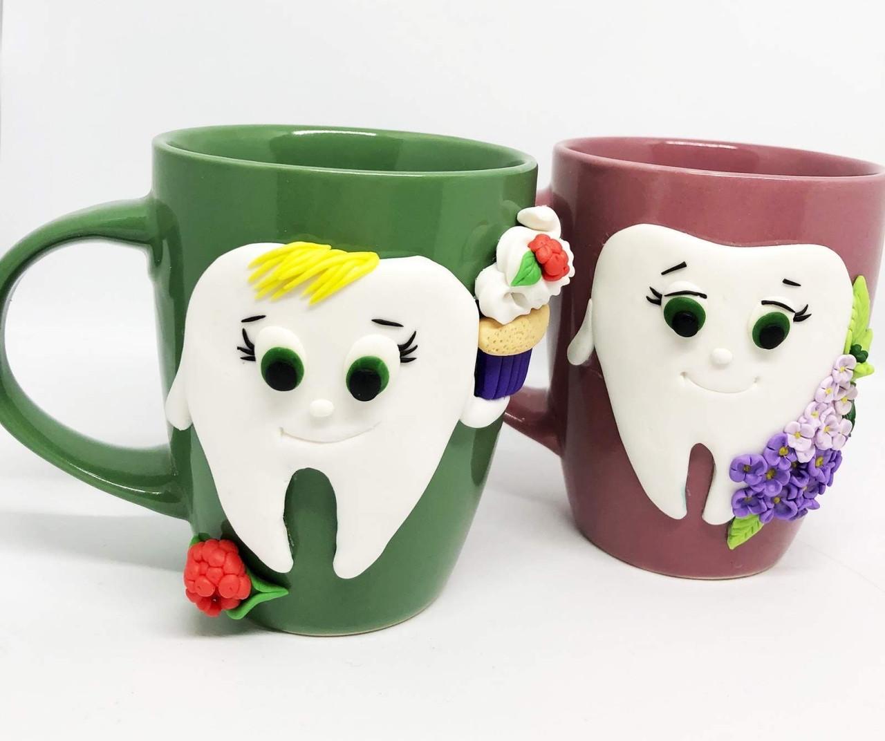 Чашка с зубом ( подарок для стоматолога)