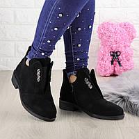 Ботинки ботиночки женские черные Kendy 1418