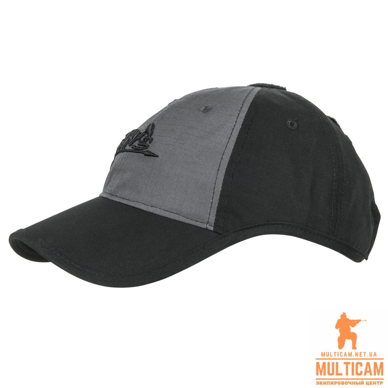 Бейсболка Helikon-Tex® Logo Cap - PolyCotton Ripstop - Shadow Grey/Black