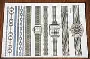 Молодежные наклейки часы и браслеты Флеш тату от Бижутерии оптом RRR.