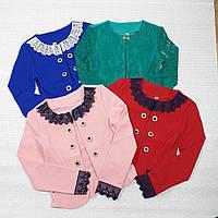 Нарядный пиджак-болеро для девочки 134-152 МИКС