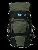 Туристический рюкзак VA T-04-8 85 л Походный для рыбалки Зеленый с черным (01V8501)