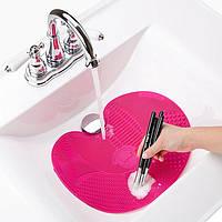 Силіконовий килимок для очищення косметичних пензлів Spa Cleaning Brush Mat