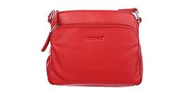 Сумка з натуральної шкіри Buono Leather через плече, червоного кольору