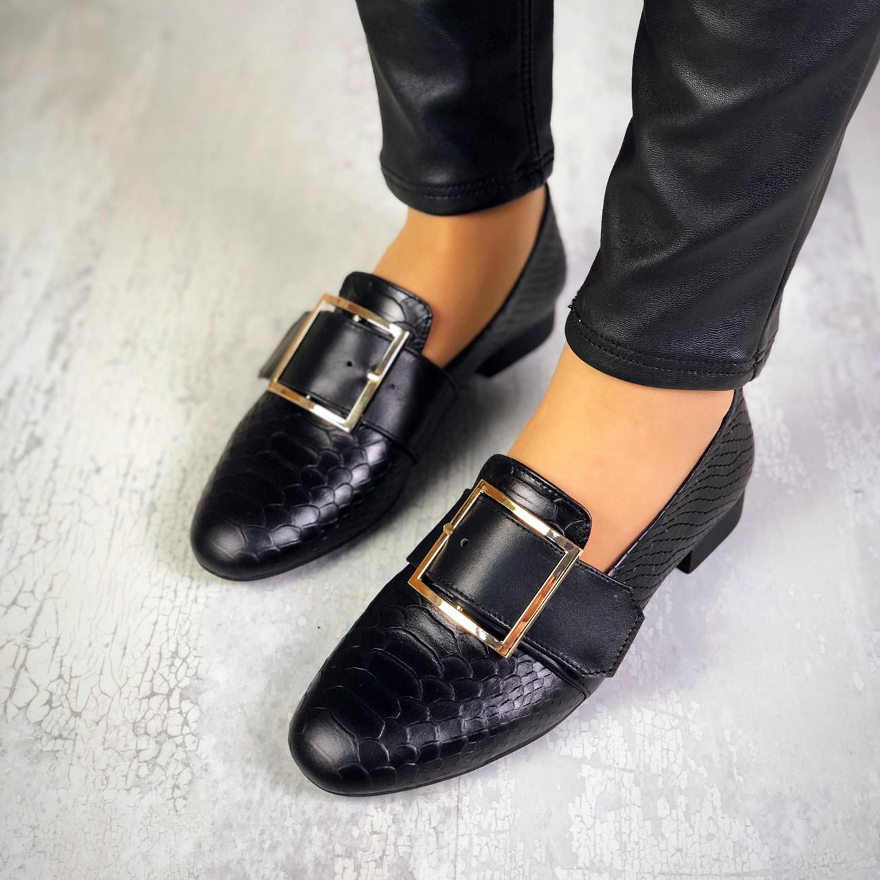 Стильные туфли на низком ходу из натуральной кожи  36-40 р