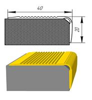 Угловой алюминиевый порожек  УЛ-127