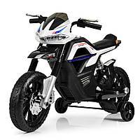 Детский мотоцикл Bambi на аккумуляторе JT5158-1 белый