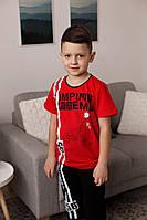 Комплект футболка и капри  мальчикам для сна и дома, фото 1