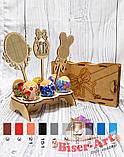 Деревянная заготовка для изготовления бисерной писанки Топпер пасхальный (71082), фото 2