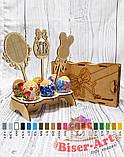 Деревянная заготовка для изготовления бисерной писанки Топпер пасхальный (71081), фото 2