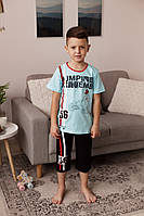 Пижамка с капрями для мальчика   8-13лет