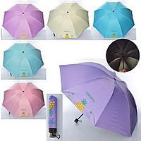 Зонтик MK 4103 (30шт) механич,трость64см,диам.92см,спица55см,в чехле,микс цв,складн,в куль,24-5-5см