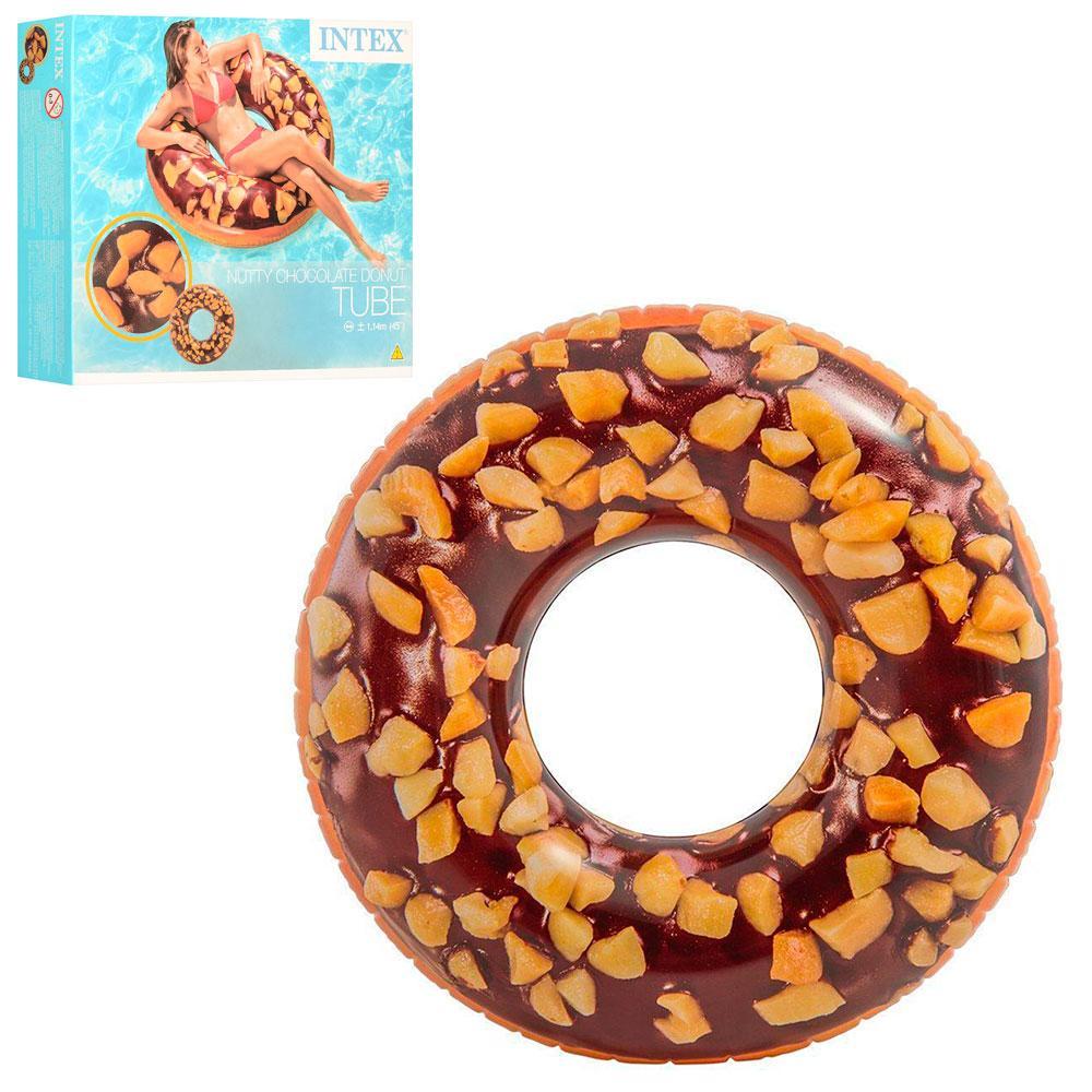 Круг 56262 (12шт) Шоколадный Пончик, 114см, ремкомплект, 9+, в кор-ке,20-18-4,5см
