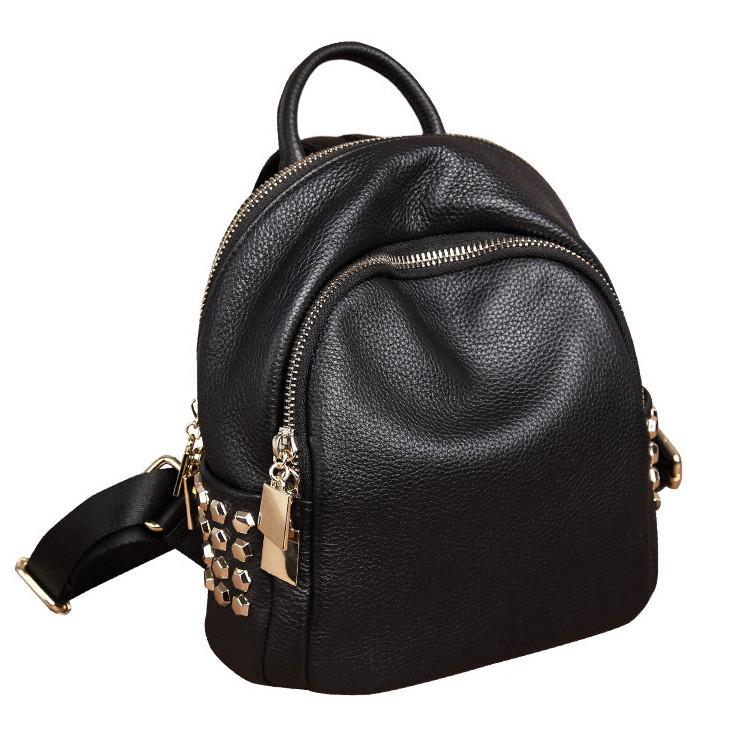 Модний рюкзак міський жіночий, розмір L Чорний