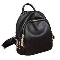 Модный рюкзак женский городской, размер L Черный