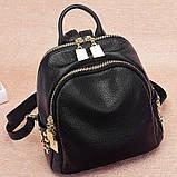 Модний рюкзак міський жіночий, розмір L Чорний, фото 4