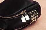 Модний рюкзак міський жіночий, розмір L Чорний, фото 5
