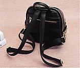 Модний рюкзак міський жіночий, розмір L Чорний, фото 6