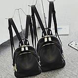 Модний рюкзак міський жіночий, розмір L Чорний, фото 9