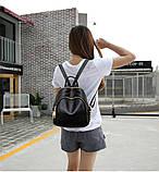 Модний рюкзак міський жіночий, розмір L Чорний, фото 3