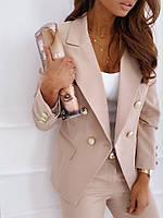Пиджак женский стильный изумруд,мята,бежевый, фото 1