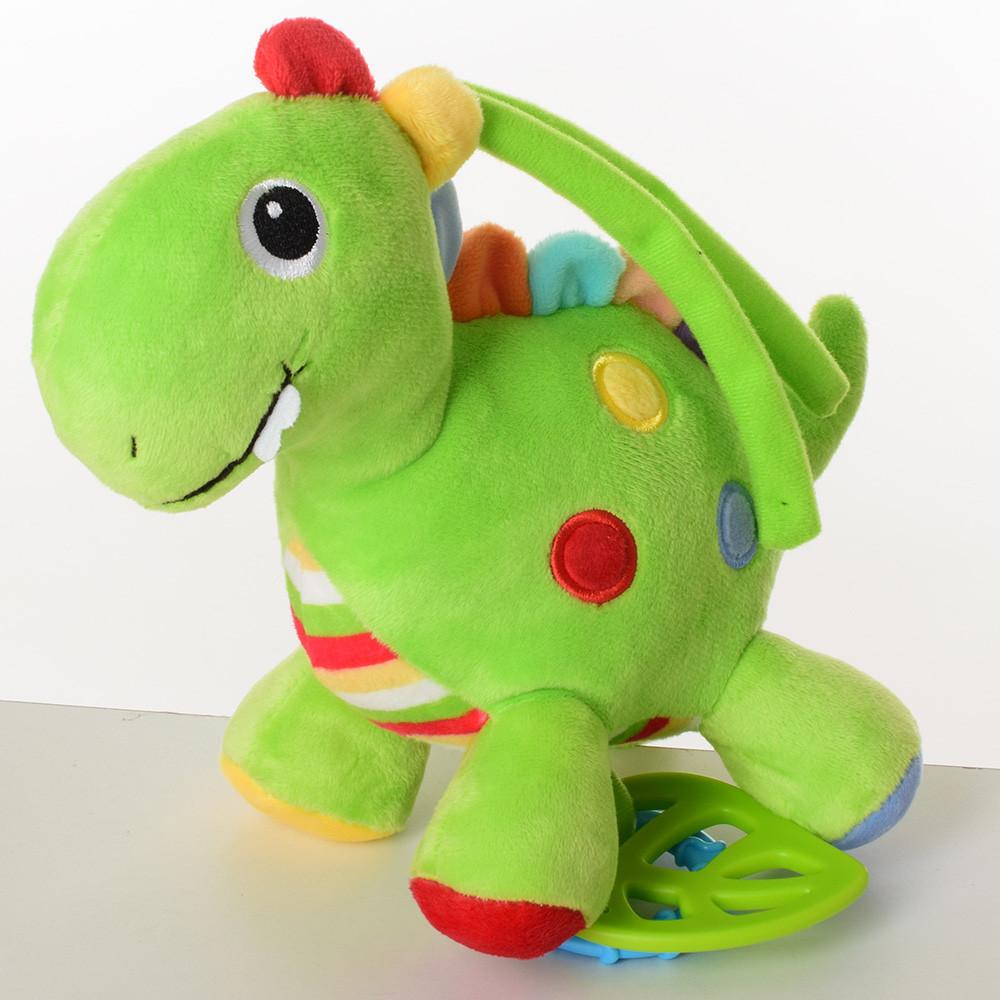 Подвеска на коляску F08271AN (54шт) динозавр, 20см, прорезыватель, шуршалка, плюш