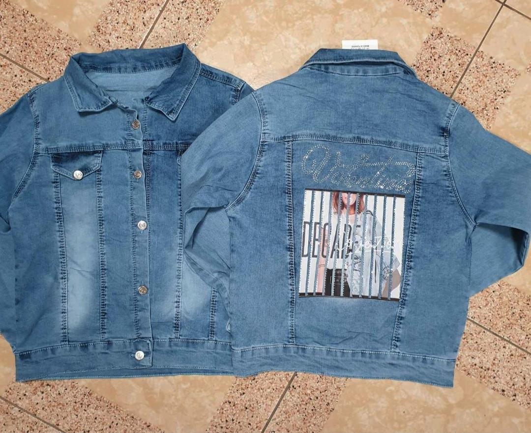 Пиджаки джинсовые для девочек 8-12 лет