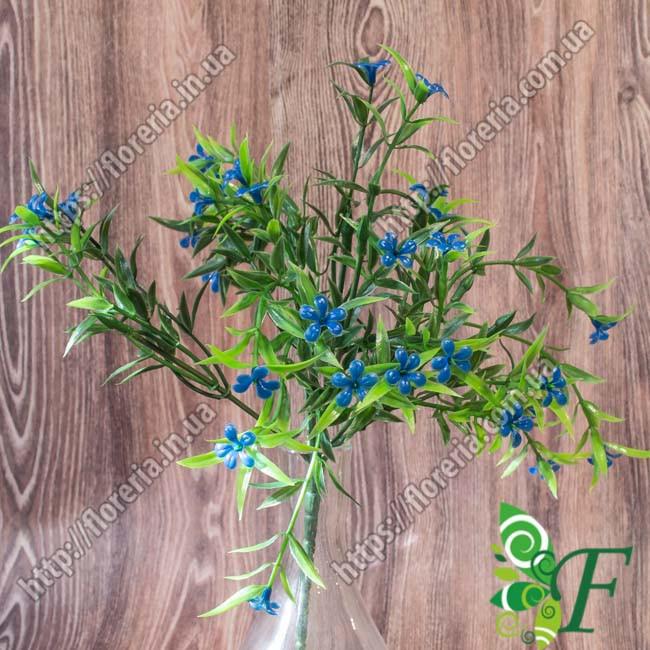 Бордюрный букет Травка с цветком синий за 5 шт