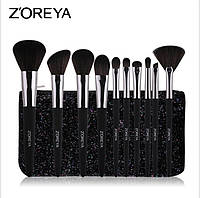Набор кистей для макияжа+чехол Zoreya Shine 10шт, фото 1