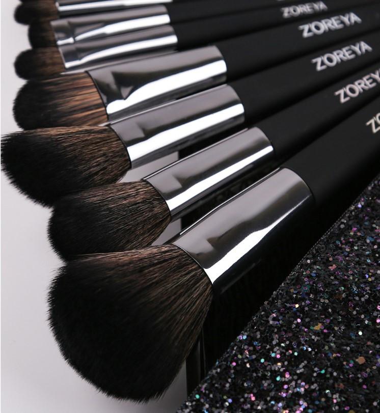 Набор кистей для макияжа Zoreya Shine 10шт оригинал