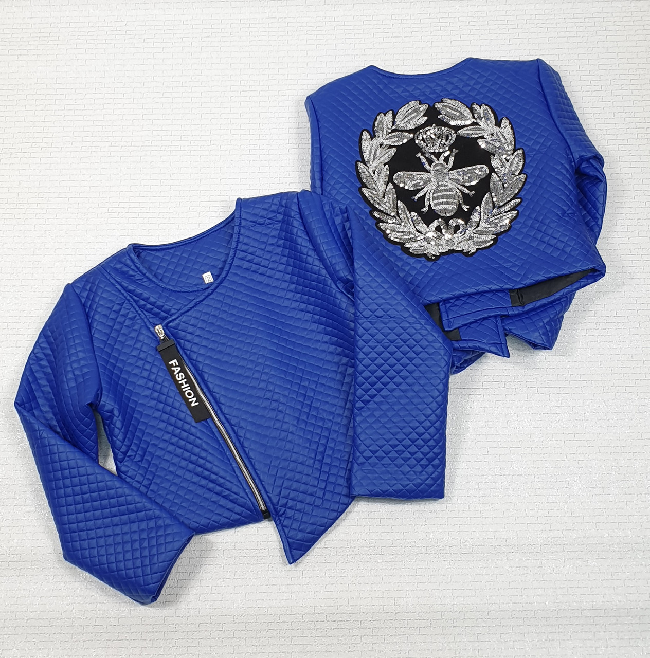 Куртка Косуха   для  девочки  128-146 электрик