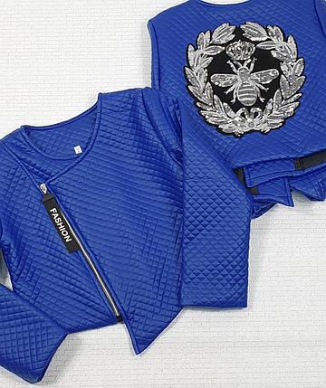 Куртка Косуха   для  девочки  128-146 электрик, фото 2