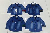 Рубашки джинсовые для мальчиков 9-12 лет