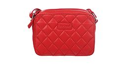 Сумка из натуральной кожи Buono Leather через плечо, красного цвета