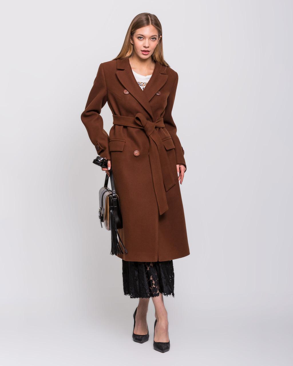 Демисезонное длинное женское пальто